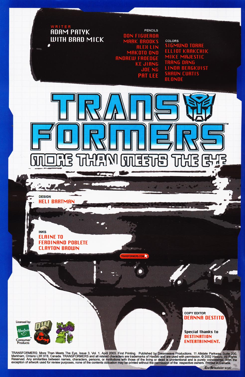 Read online Transformers: More than Meets the Eye comic -  Issue #3 - 2