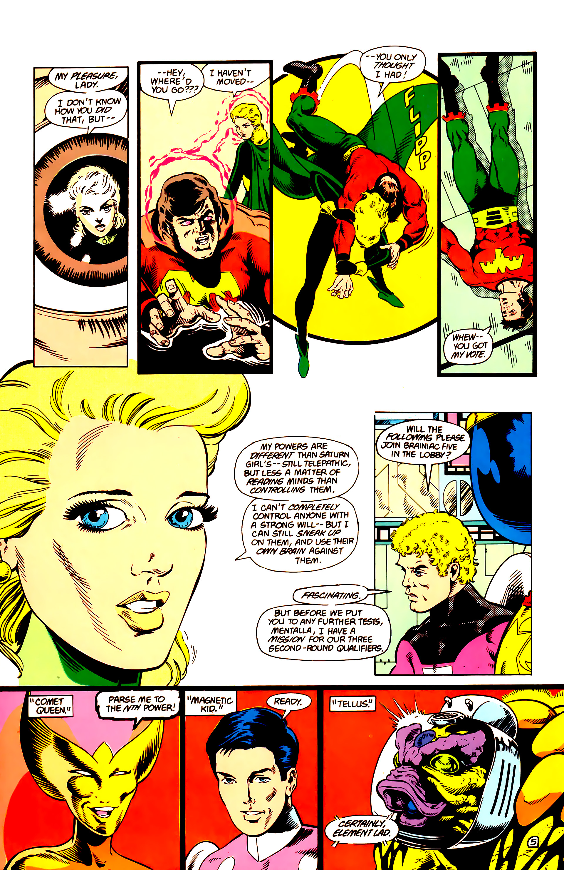 Legion of Super-Heroes (1984) 14 Page 6