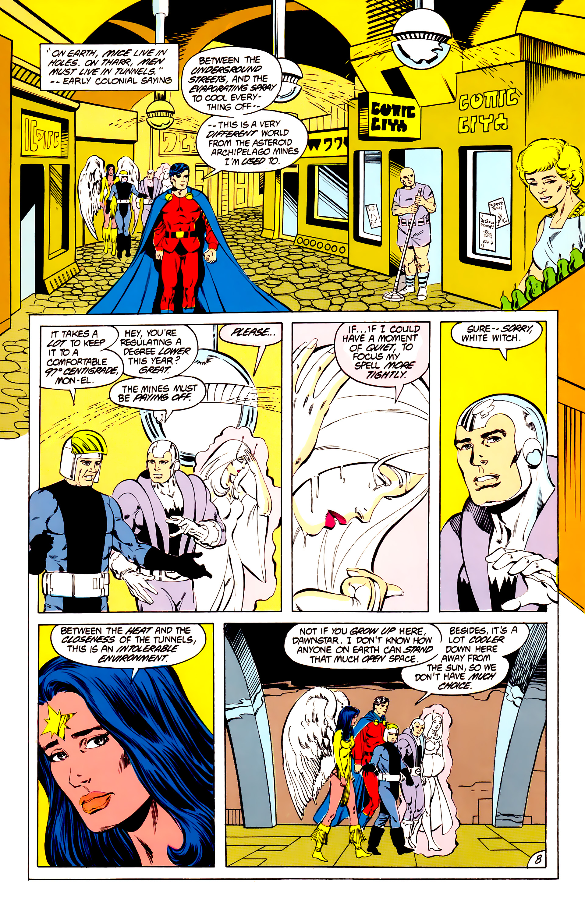 Legion of Super-Heroes (1984) 40 Page 8