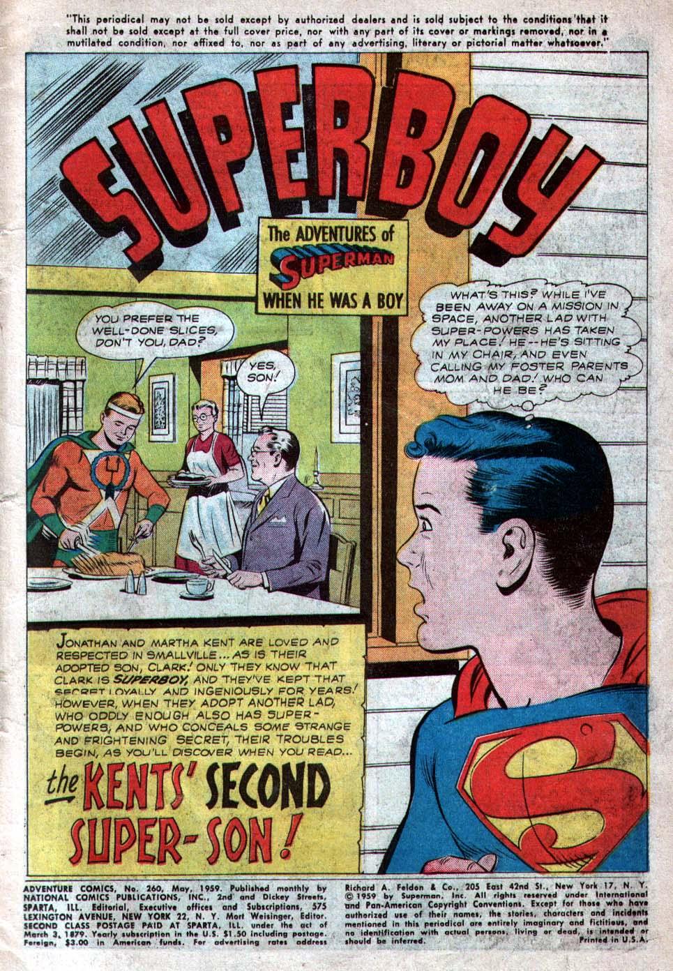 Read online Adventure Comics (1938) comic -  Issue #260 - 3