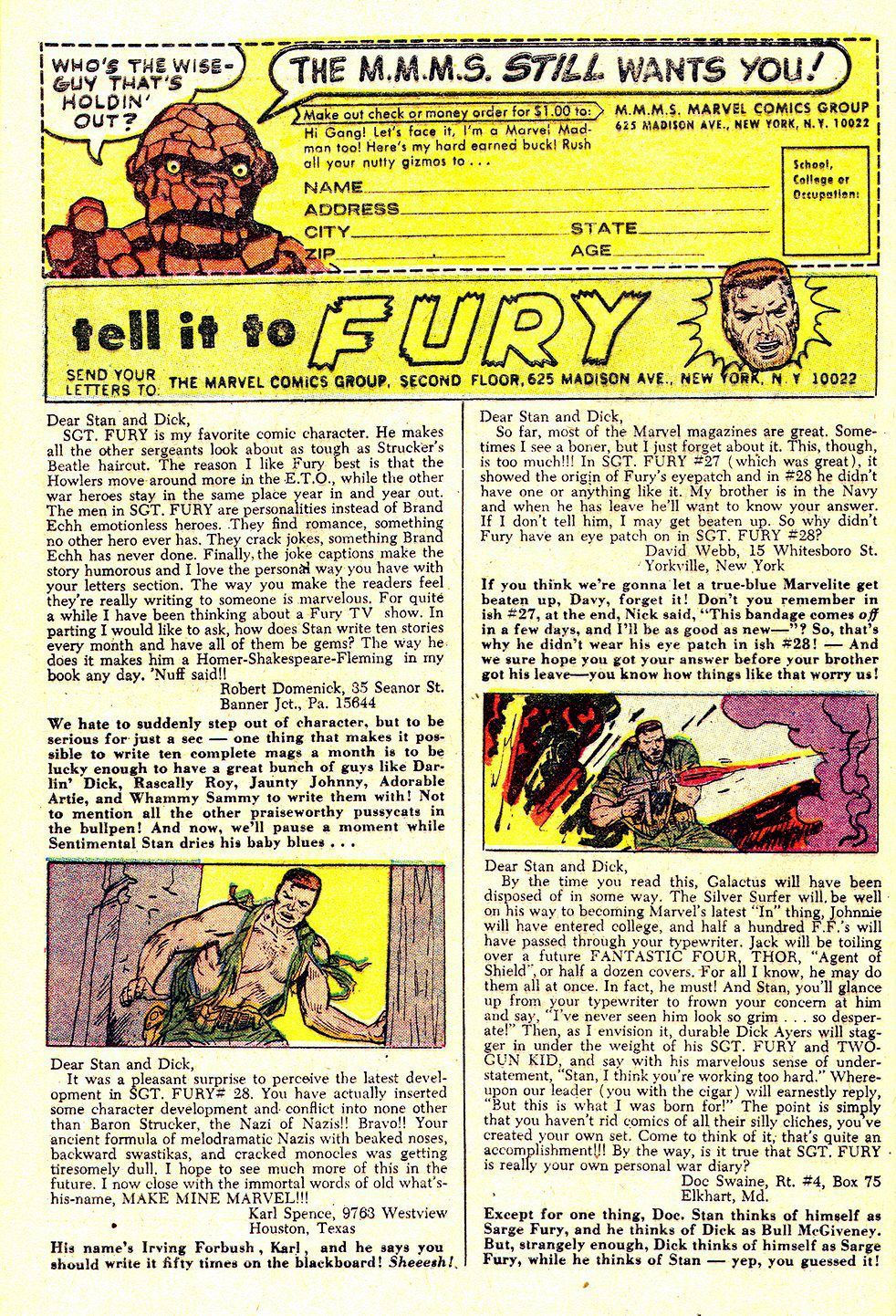 Read online Sgt. Fury comic -  Issue #32 - 32