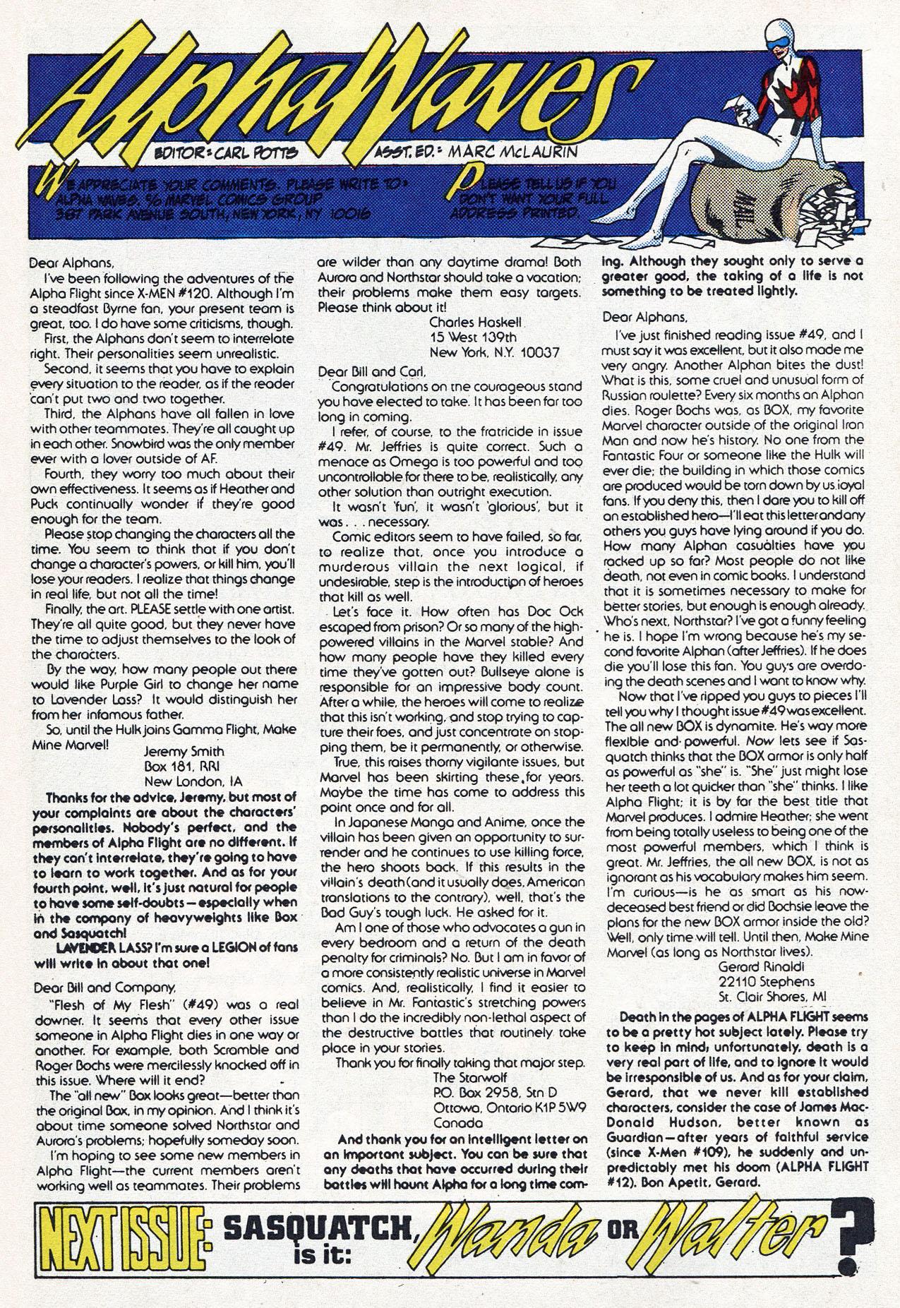 Read online Alpha Flight (1983) comic -  Issue #54 - 32