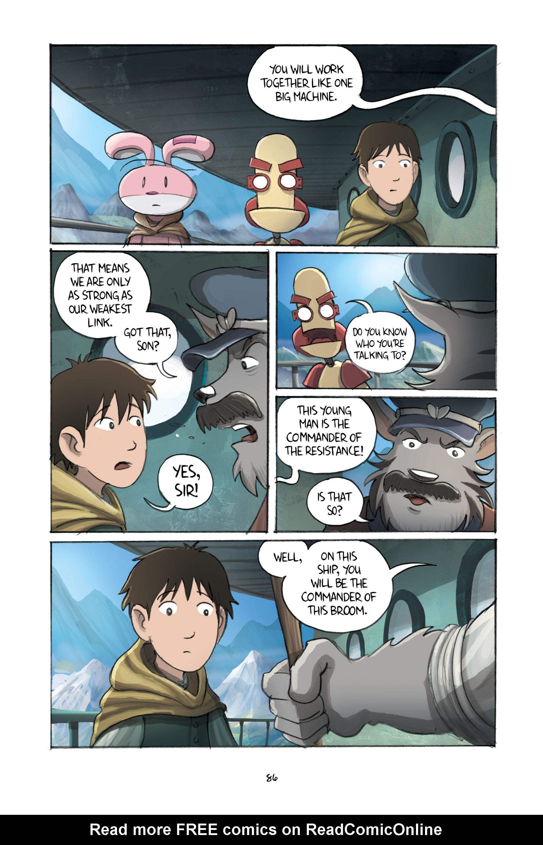 Read online Amulet comic -  Issue #3 - 84