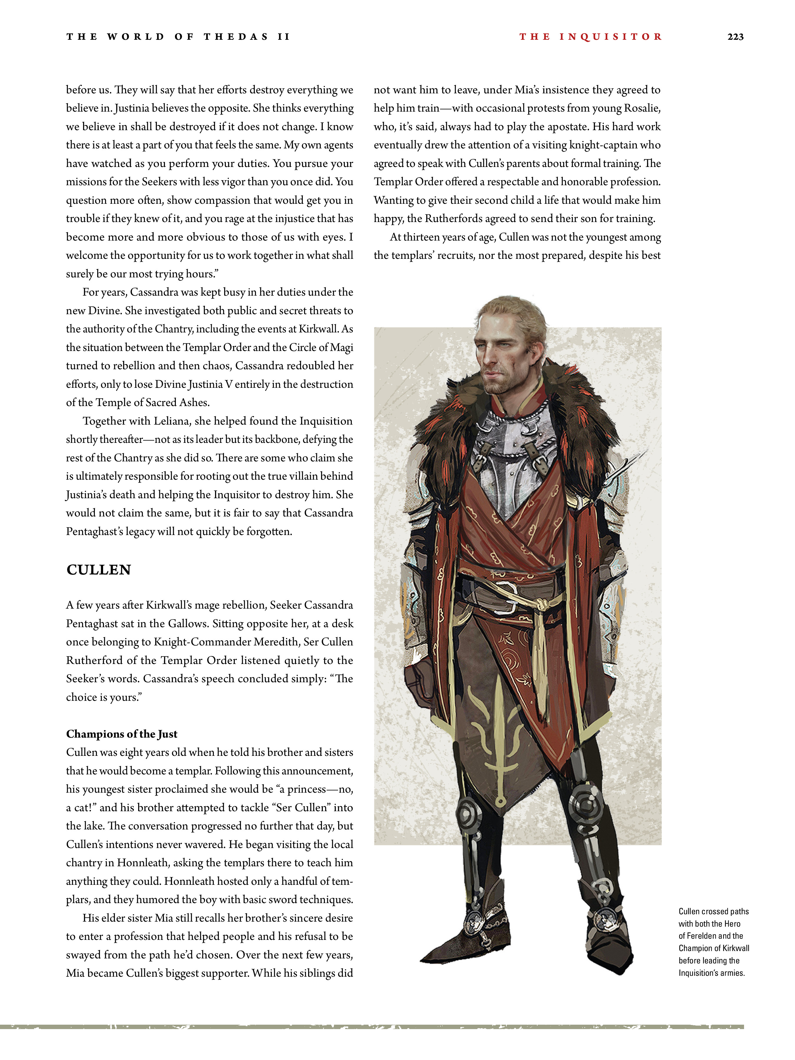 Read online Dragon Age: The World of Thedas comic -  Issue # TPB 2 - 218