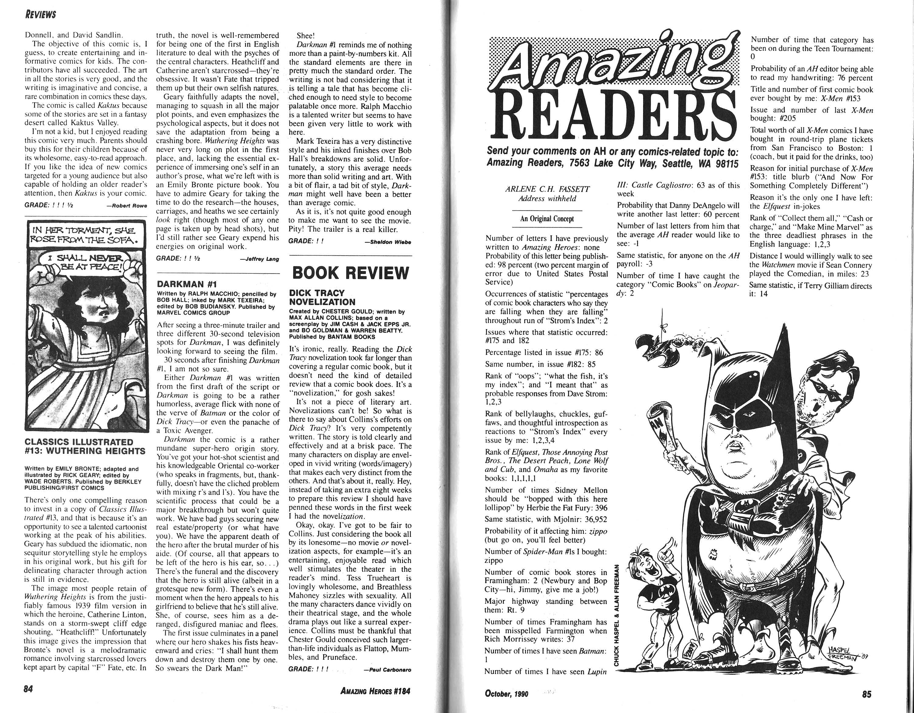 Read online Amazing Heroes comic -  Issue #184 - 59
