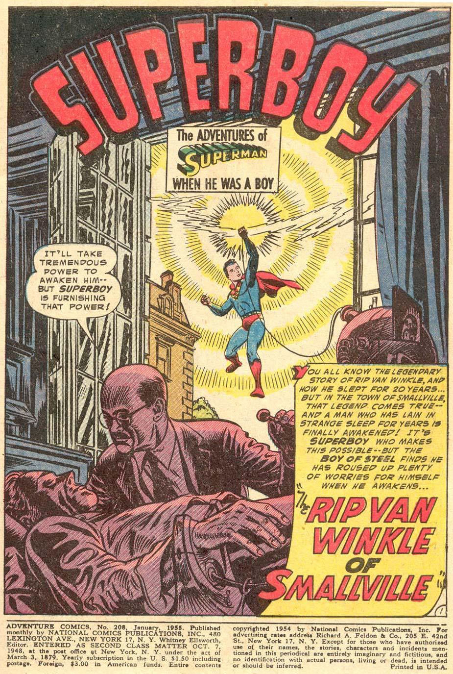 Read online Adventure Comics (1938) comic -  Issue #208 - 3