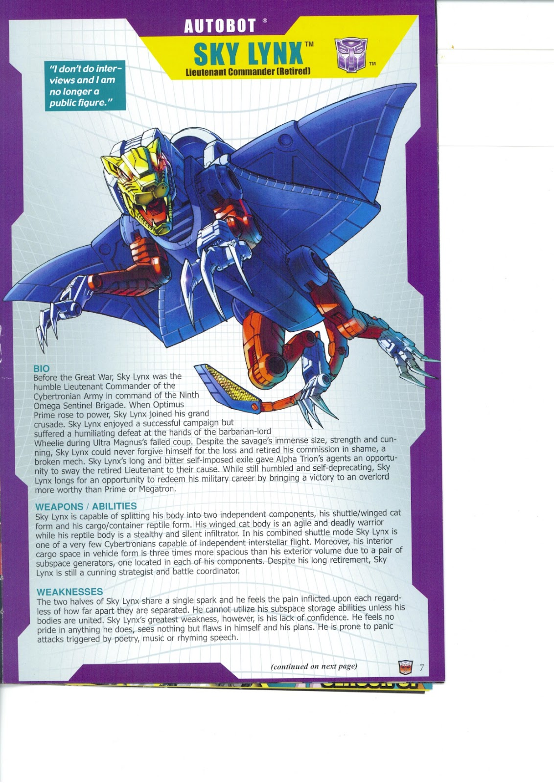 Read online Transformers: Collectors' Club comic -  Issue #26 - 7