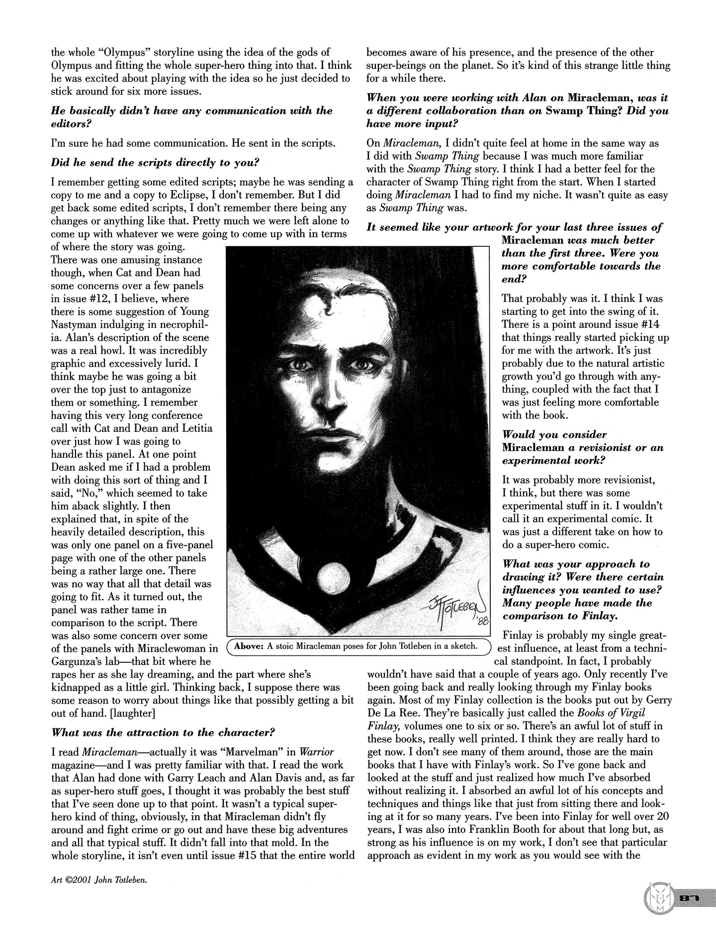 Read online Kimota!: The Miracleman Companion comic -  Issue # Full - 88