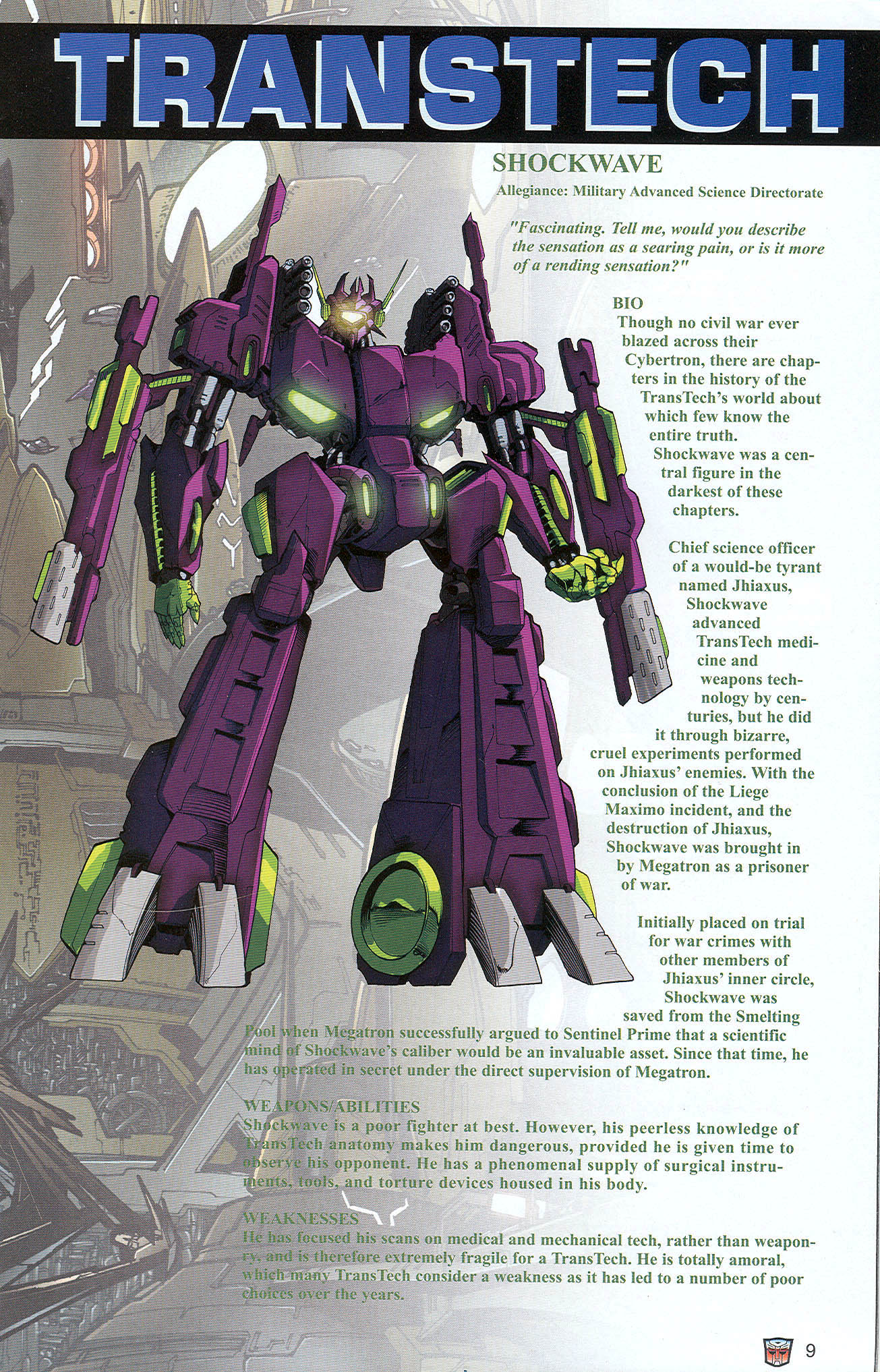 Read online Transformers: Collectors' Club comic -  Issue #22 - 9