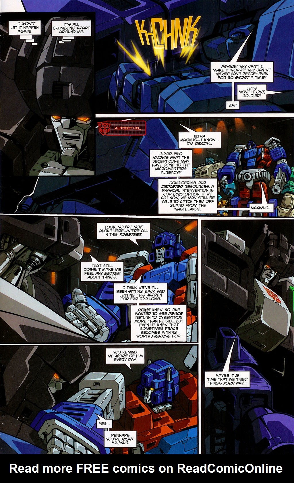 Read online Transformers: Micromasters comic -  Issue #4 - 11