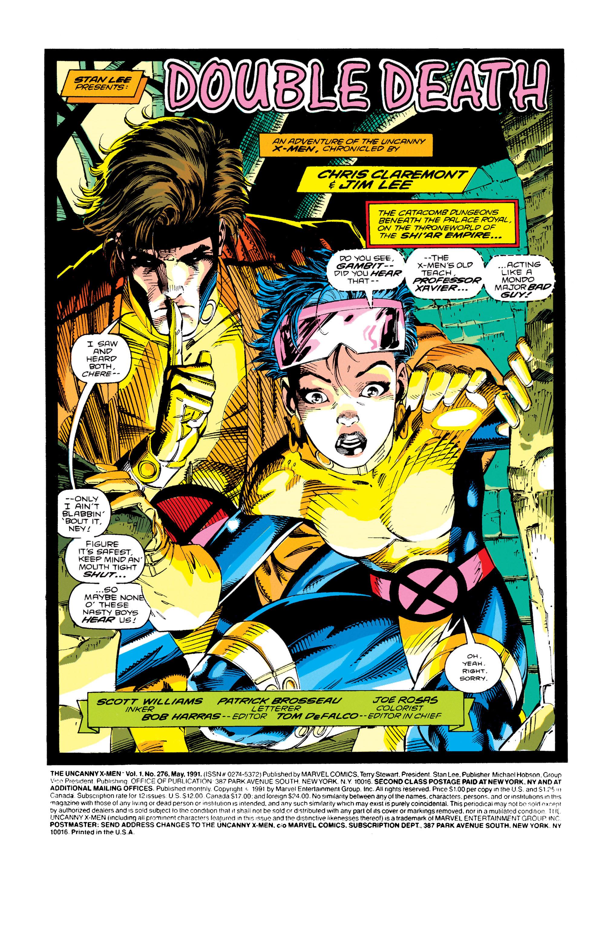 Read online Uncanny X-Men (1963) comic -  Issue #276 - 2