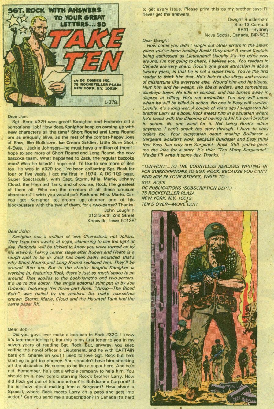 Read online Sgt. Rock comic -  Issue #335 - 23