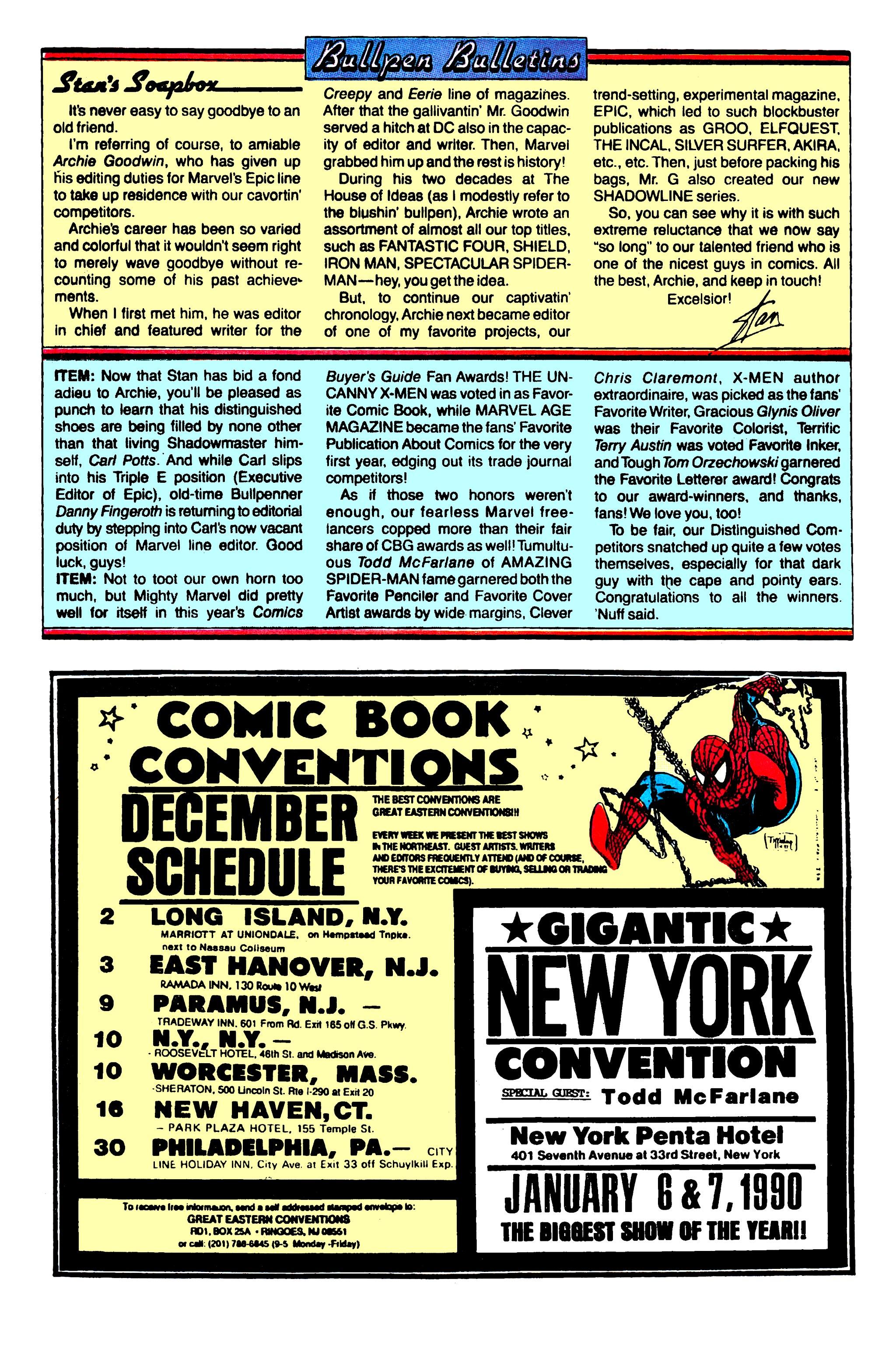Read online Uncanny X-Men (1963) comic -  Issue #257 - 21