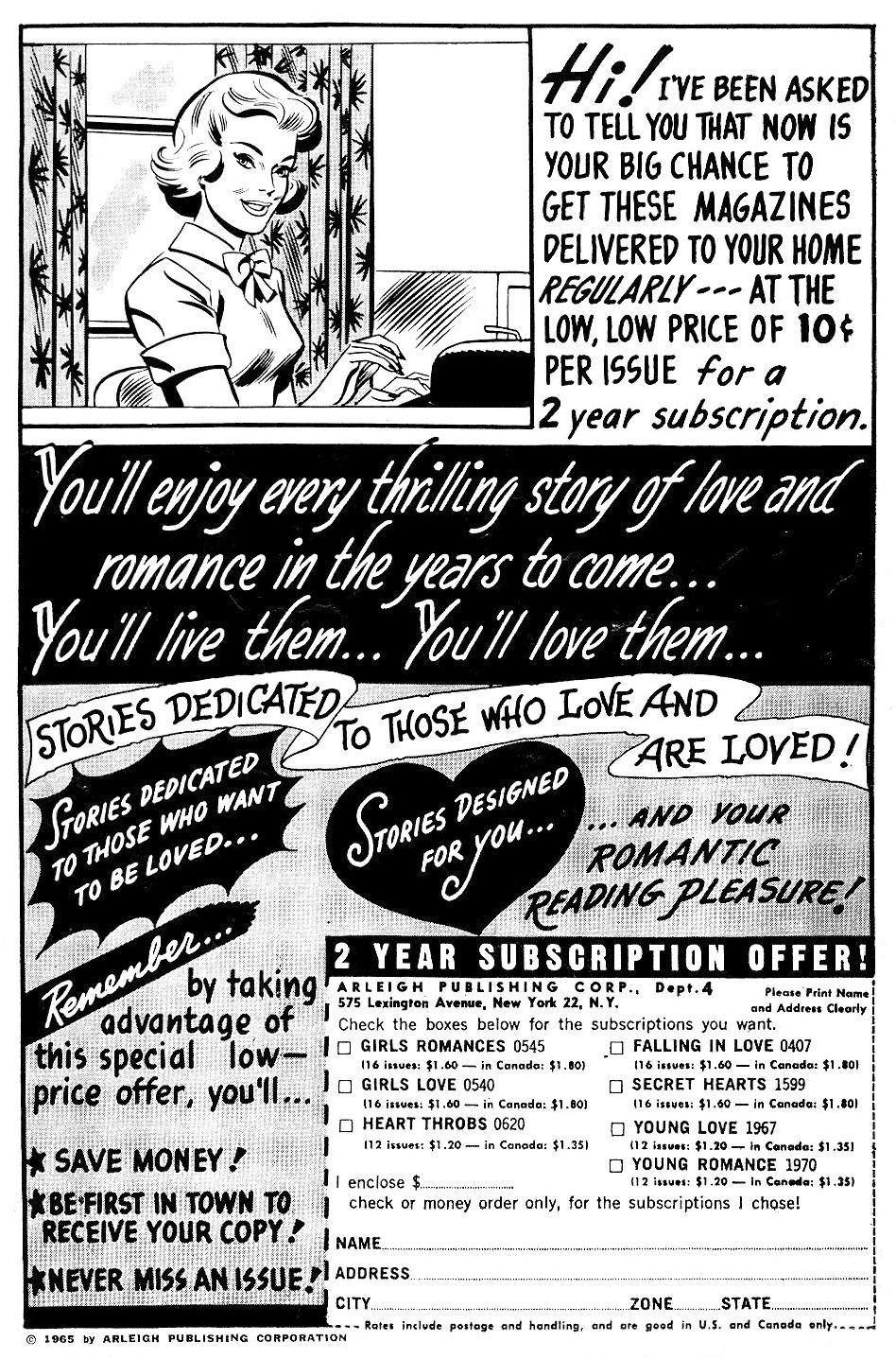 Read online Secret Hearts comic -  Issue #102 - 2