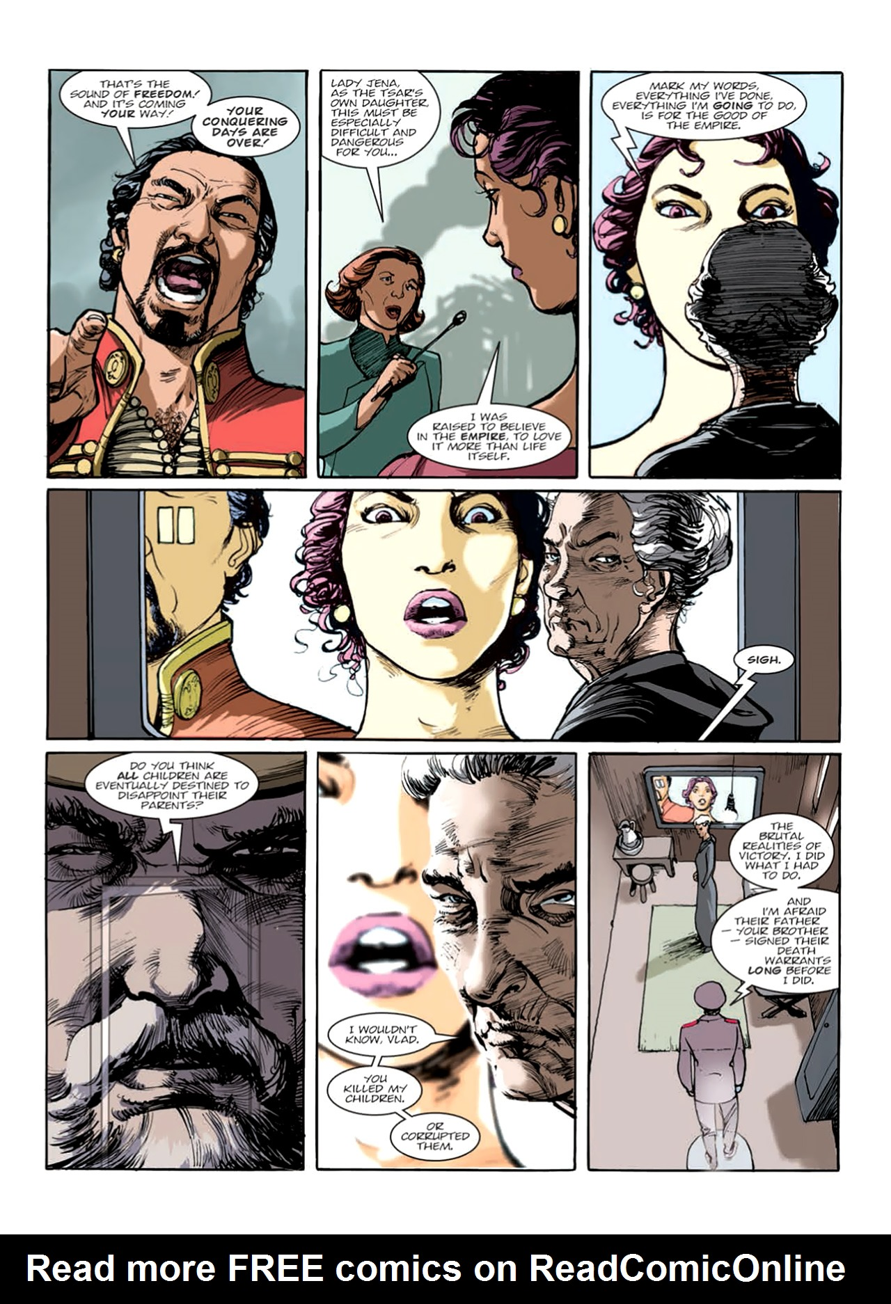 Read online Nikolai Dante comic -  Issue # TPB 9 - 125