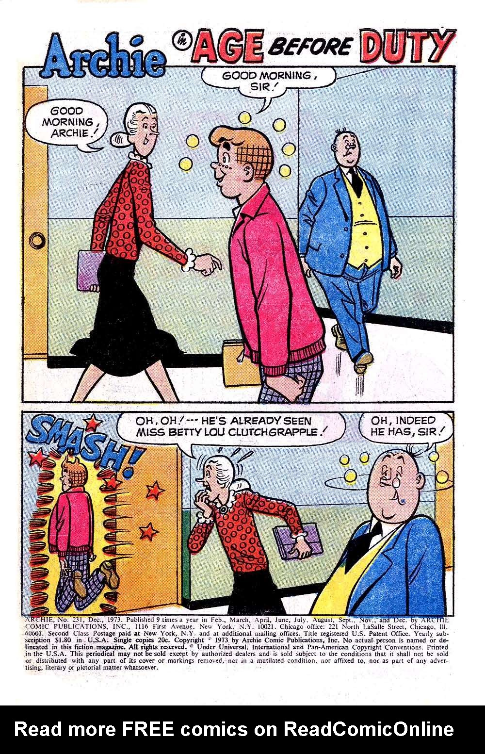 Read online Archie (1960) comic -  Issue #231 - 3