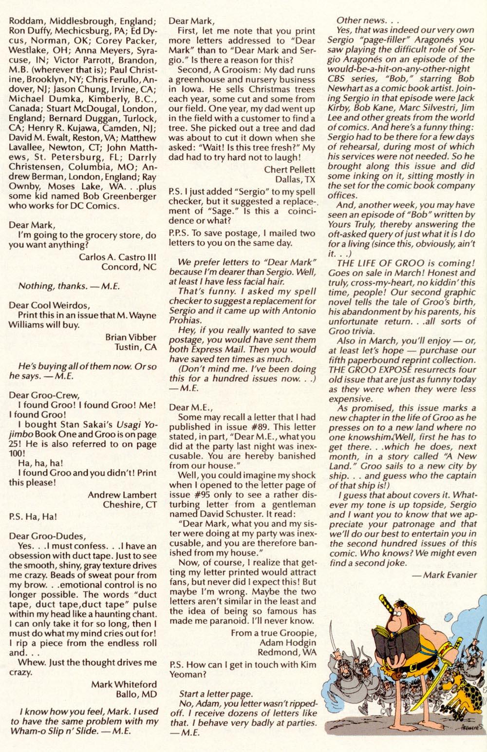 Read online Sergio Aragonés Groo the Wanderer comic -  Issue #100 - 47