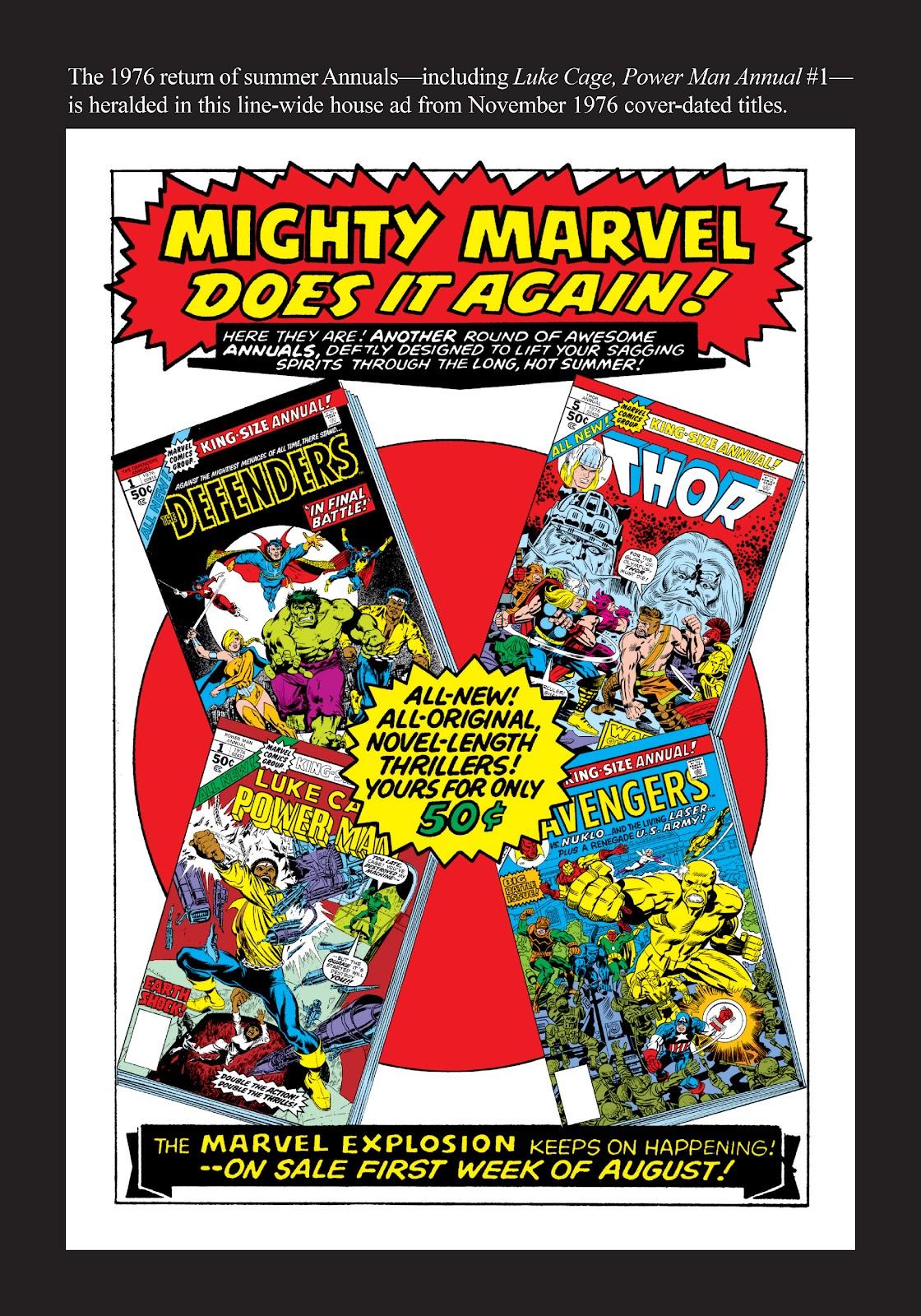 Read online Marvel Masterworks: Luke Cage, Power Man comic -  Issue # TPB 3 (Part 3) - 118