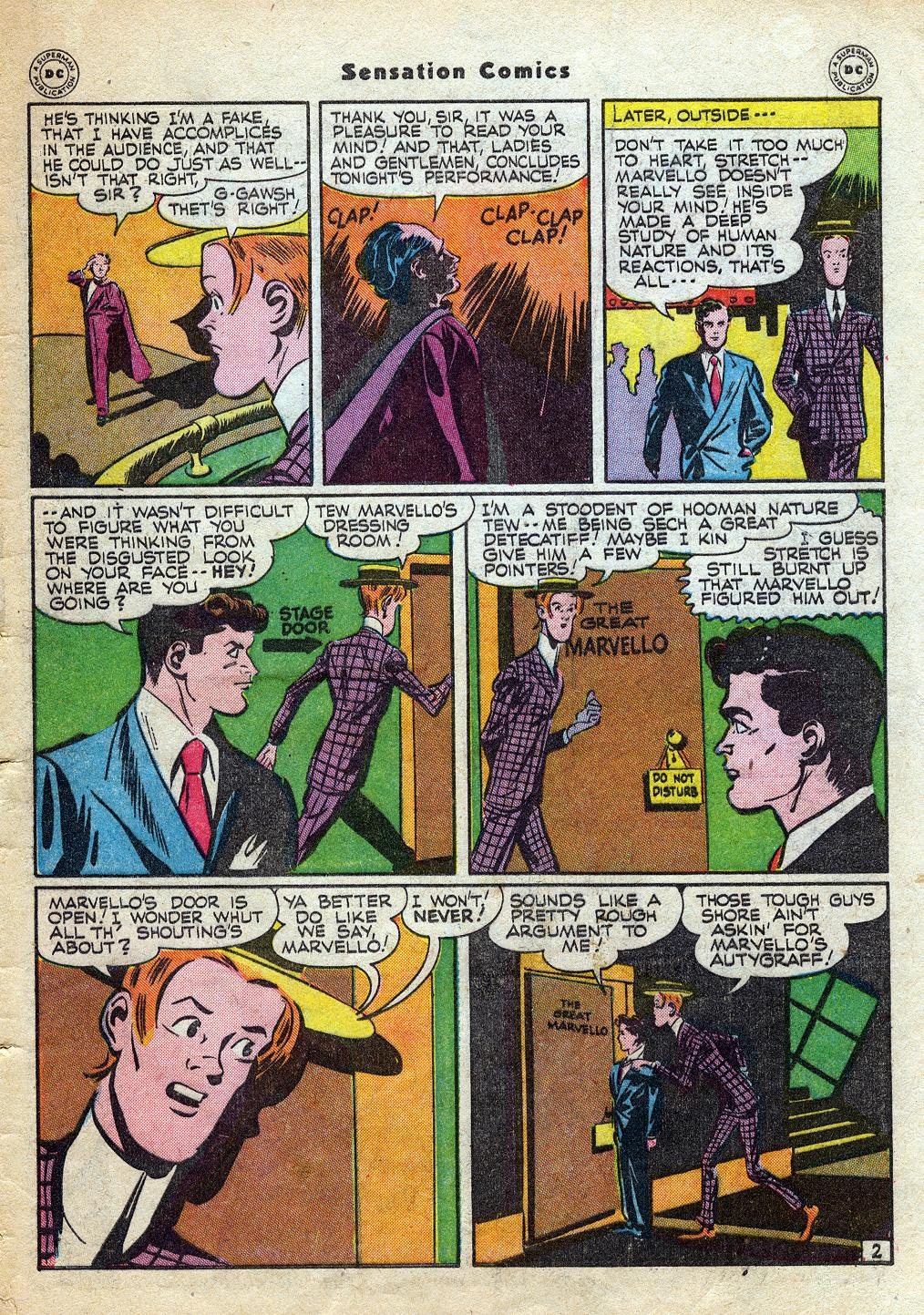 Read online Sensation (Mystery) Comics comic -  Issue #60 - 43