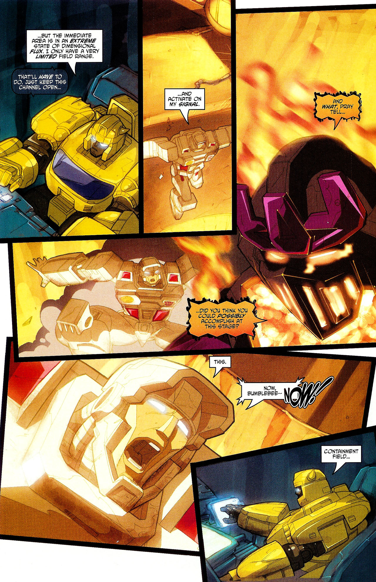 "Read online Transformers War Within: ""The Dark Ages"" comic -  Issue #6 - 18"