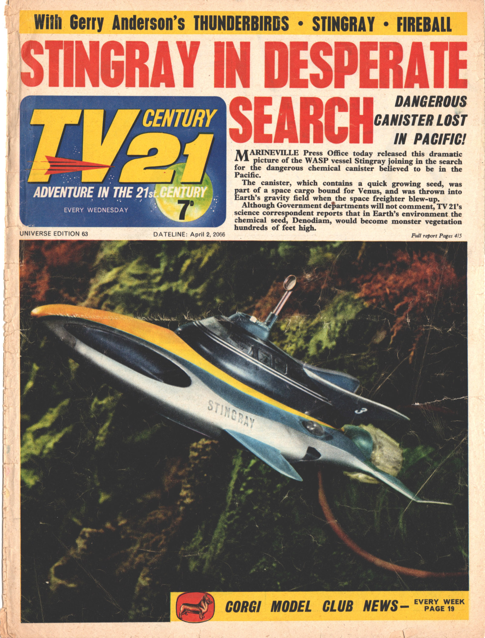 Read online TV Century 21 (TV 21) comic -  Issue #63 - 1