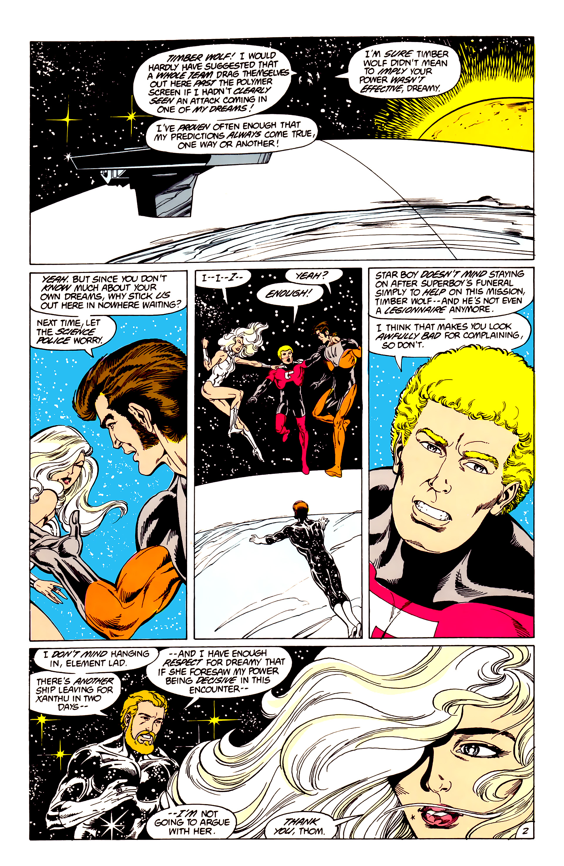 Legion of Super-Heroes (1984) 40 Page 2