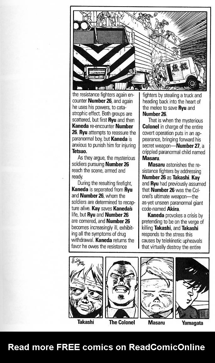 Read online Akira comic -  Issue #3 - 5