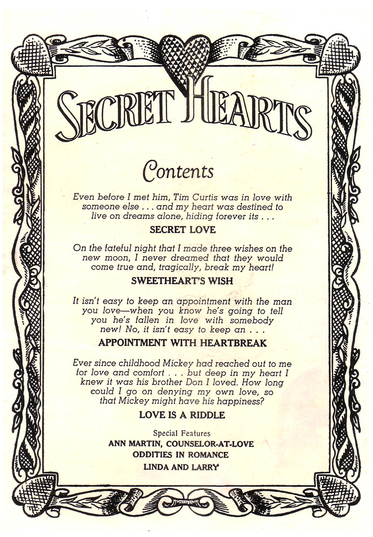 Read online Secret Hearts comic -  Issue #39 - 2