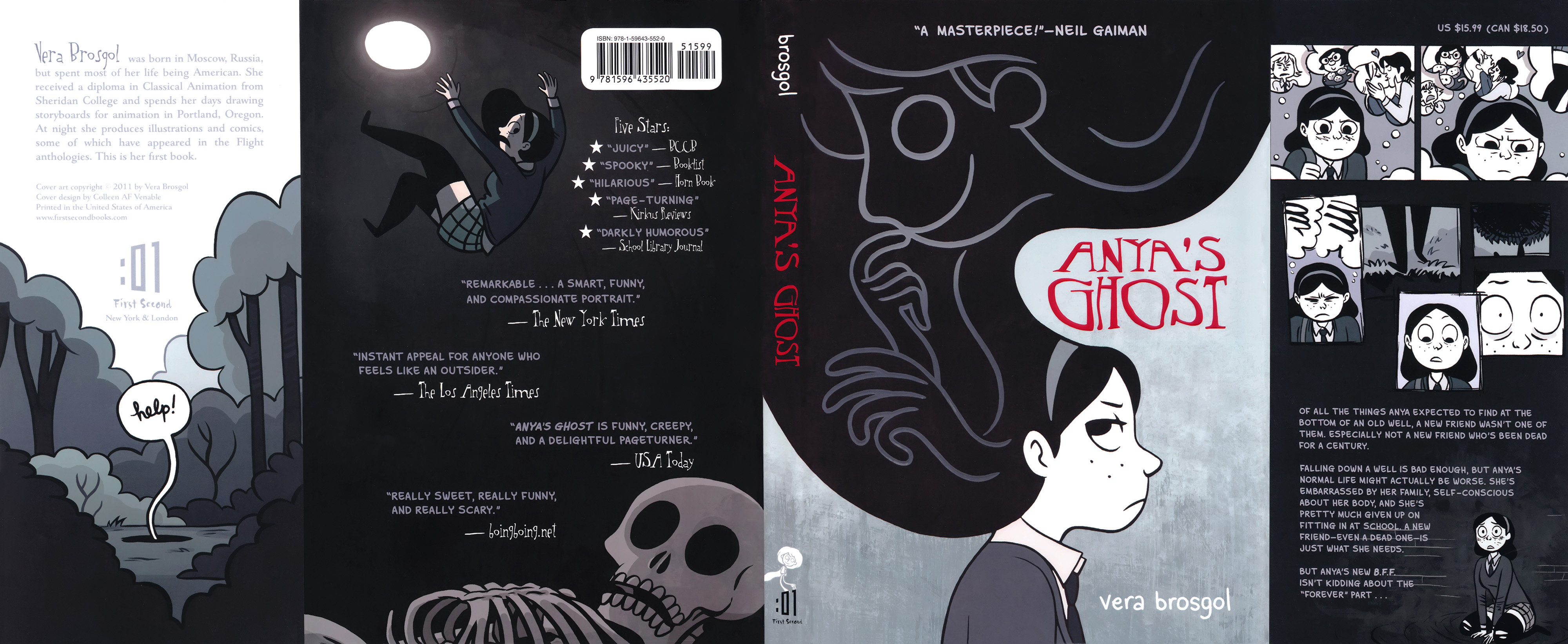 Read online Anya's Ghost comic -  Issue #1 - 224