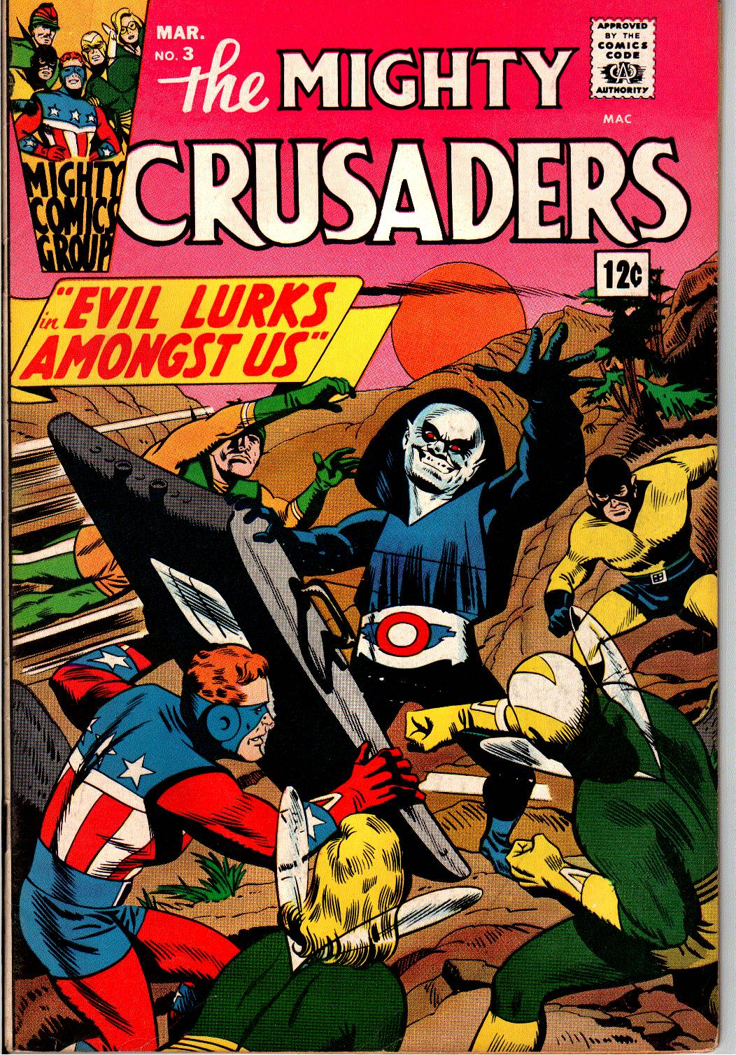 The Mighty Crusaders (1965) Issue #3 #3 - English 1