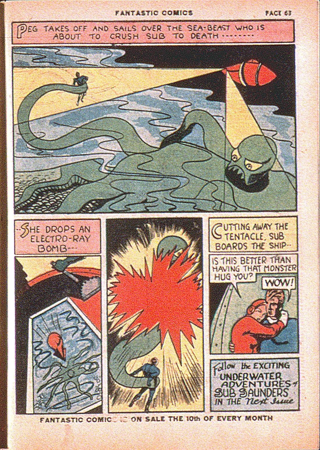 Read online Fantastic Comics comic -  Issue #7 - 65
