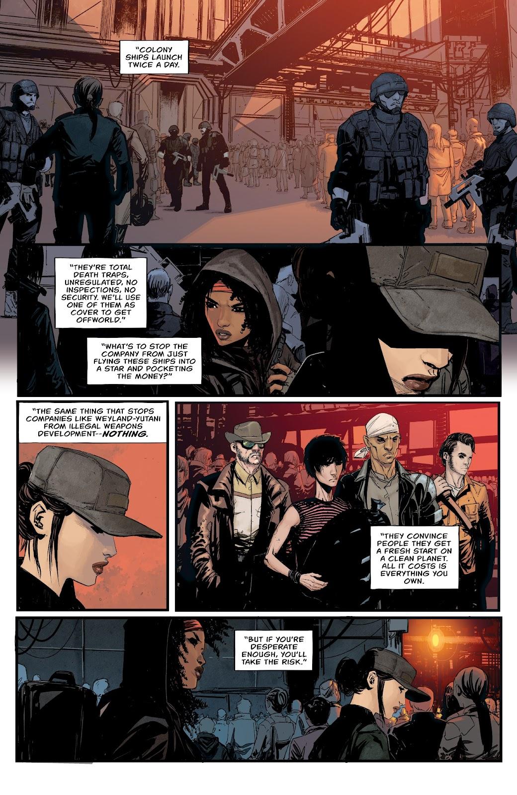 Read online Aliens: Resistance comic -  Issue #1 - 10