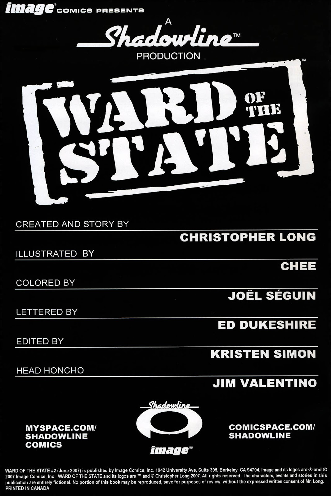 Read online Ward Of The State comic -  Issue #2 - 2