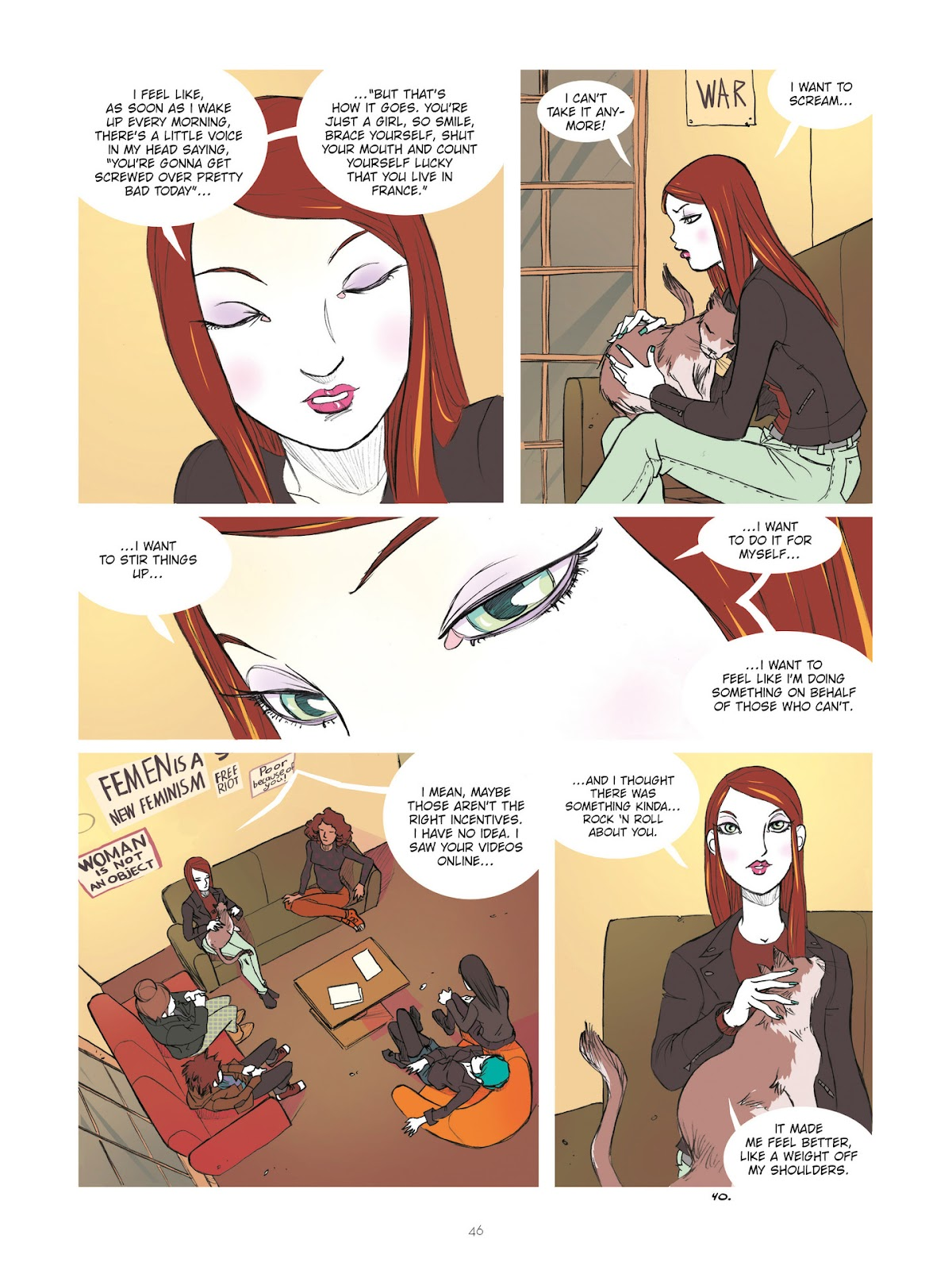 Read online Diary of A Femen comic -  Issue # TPB - 48