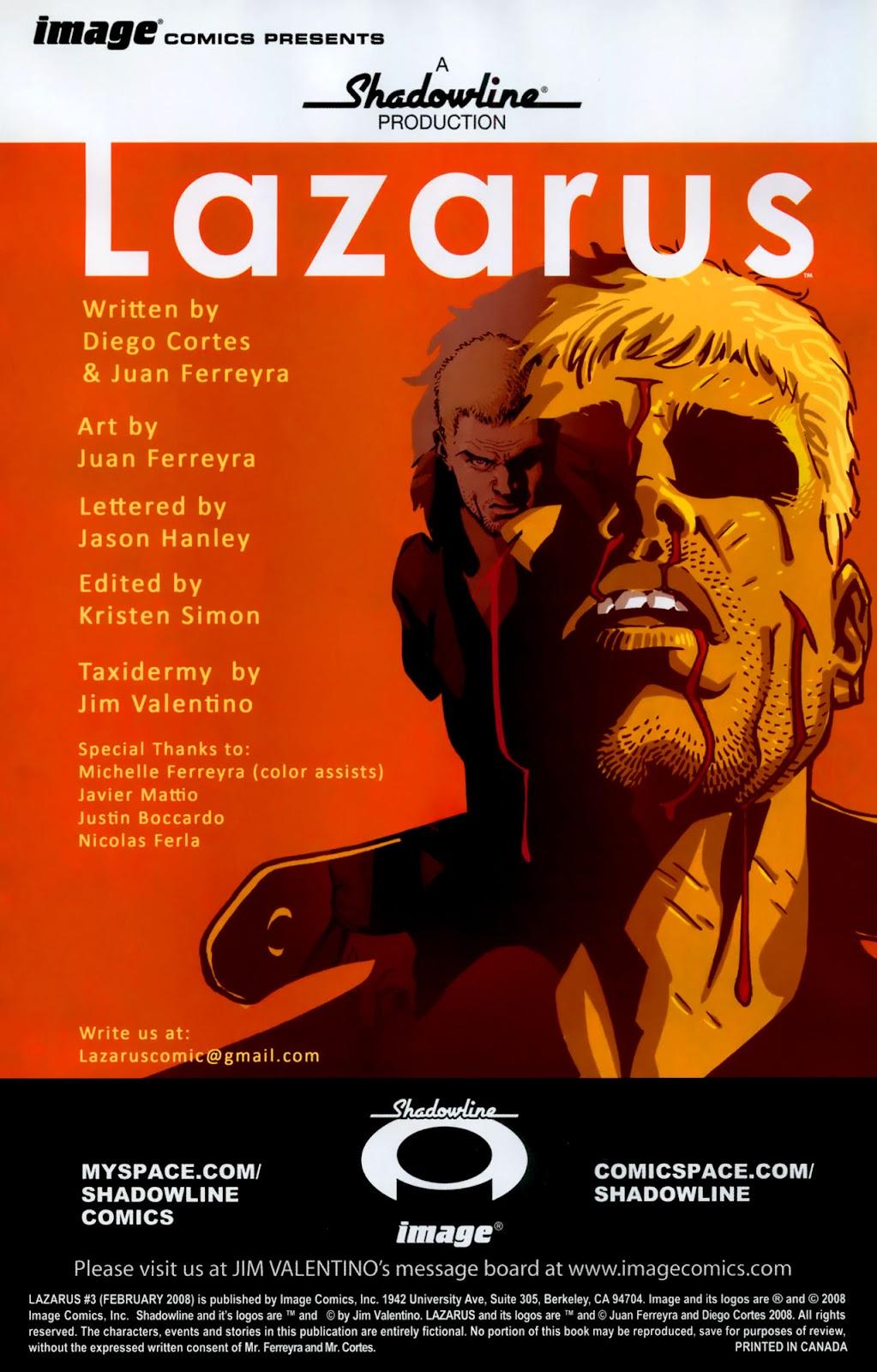 Read online Lazarus (2007) comic -  Issue #3 - 2