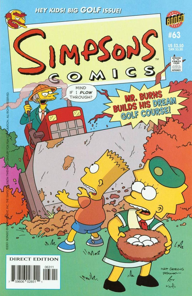 Read online Simpsons Comics comic -  Issue #63 - 1