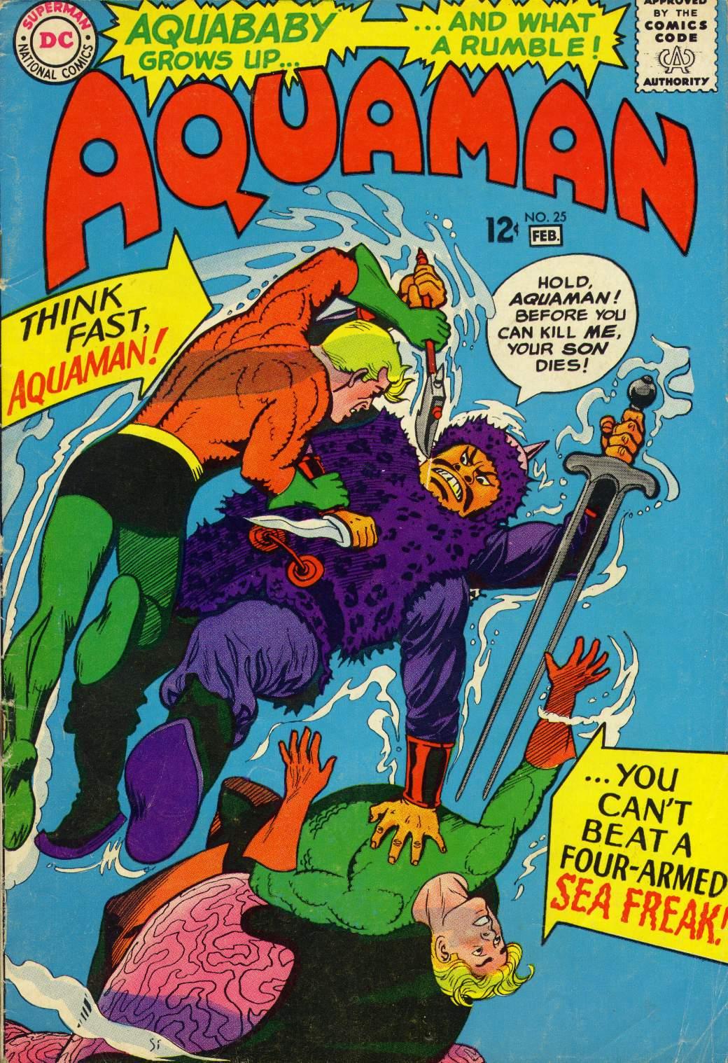 Read online Aquaman (1962) comic -  Issue #25 - 1