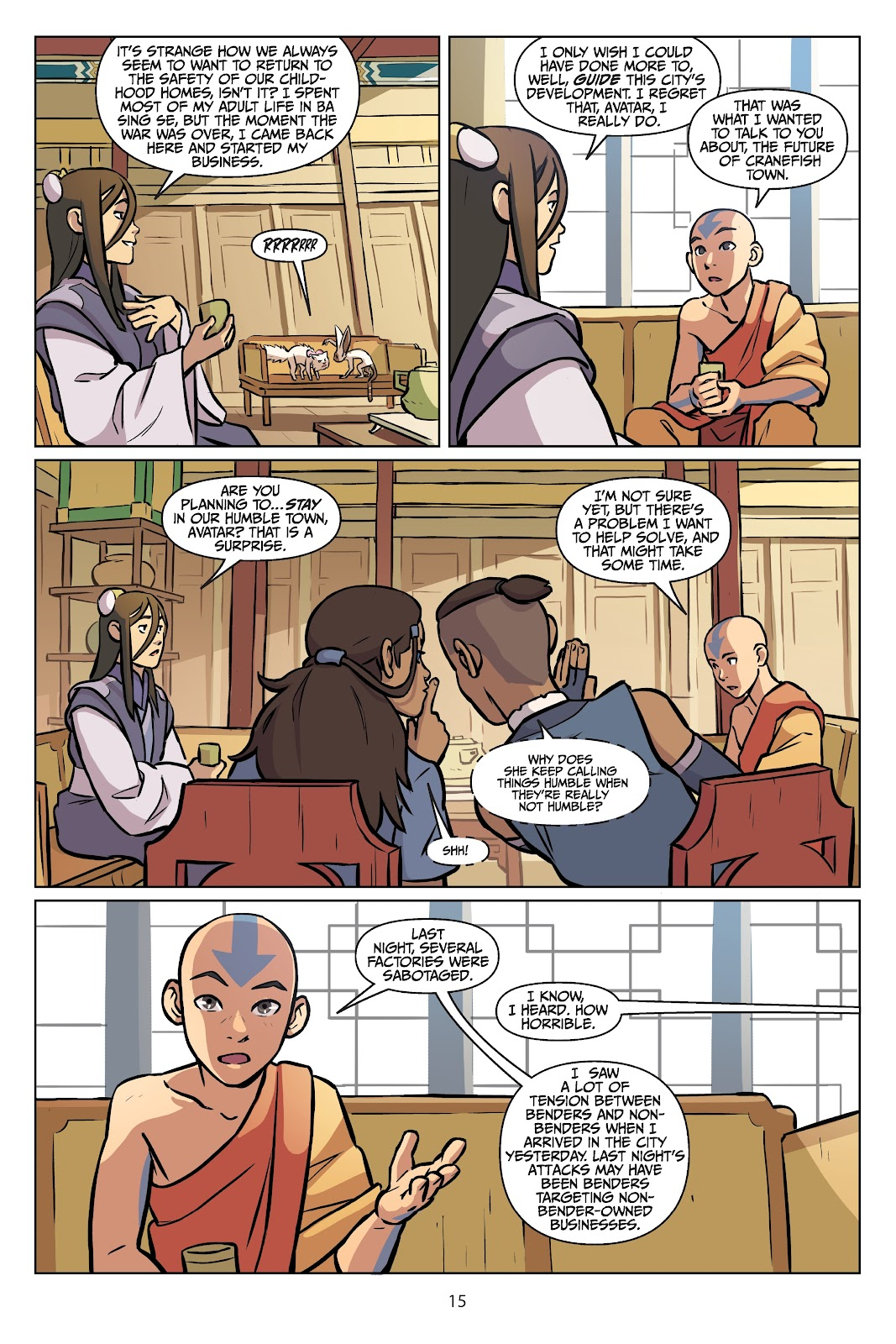Read online Nickelodeon Avatar: The Last Airbender - Imbalance comic -  Issue # TPB 2 - 16