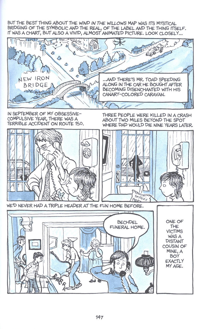 Read online Fun Home: A Family Tragicomic comic -  Issue # TPB - 153