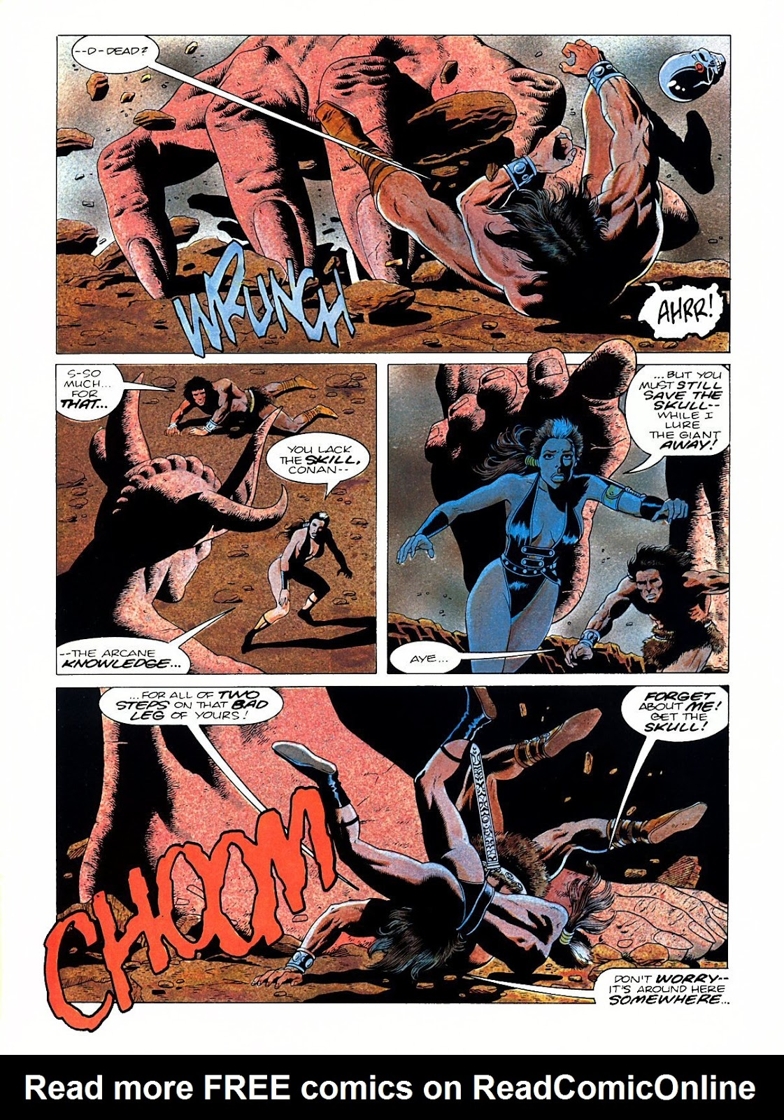 Read online Marvel Graphic Novel: Conan the Barbarian: The Skull of Set comic -  Issue # Full - 57