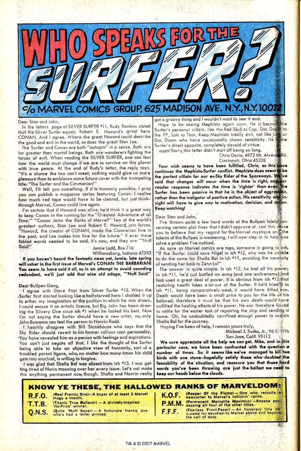 Read online Silver Surfer (1968) comic -  Issue #17 - 32
