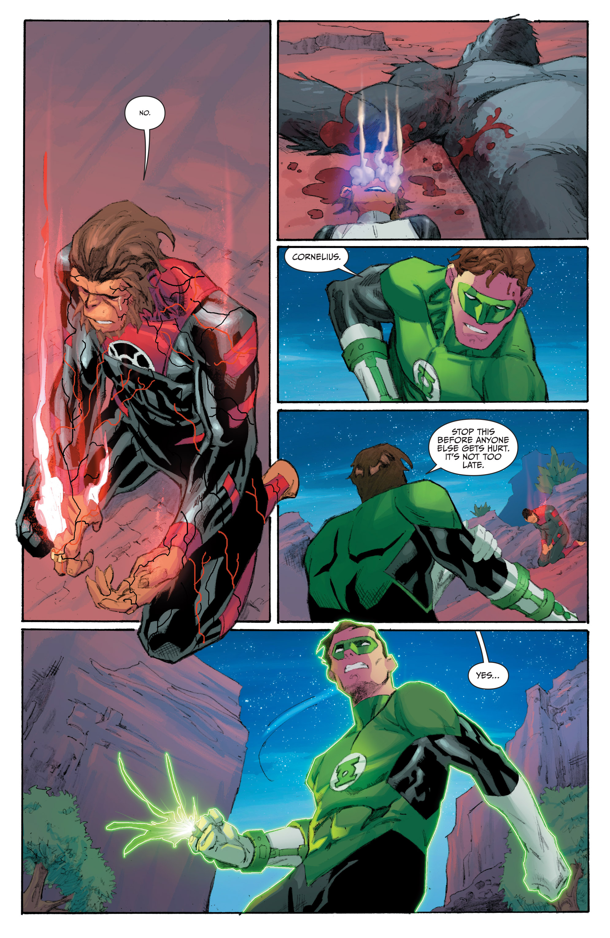 Read online Planet of the Apes/Green Lantern comic -  Issue #5 - 21