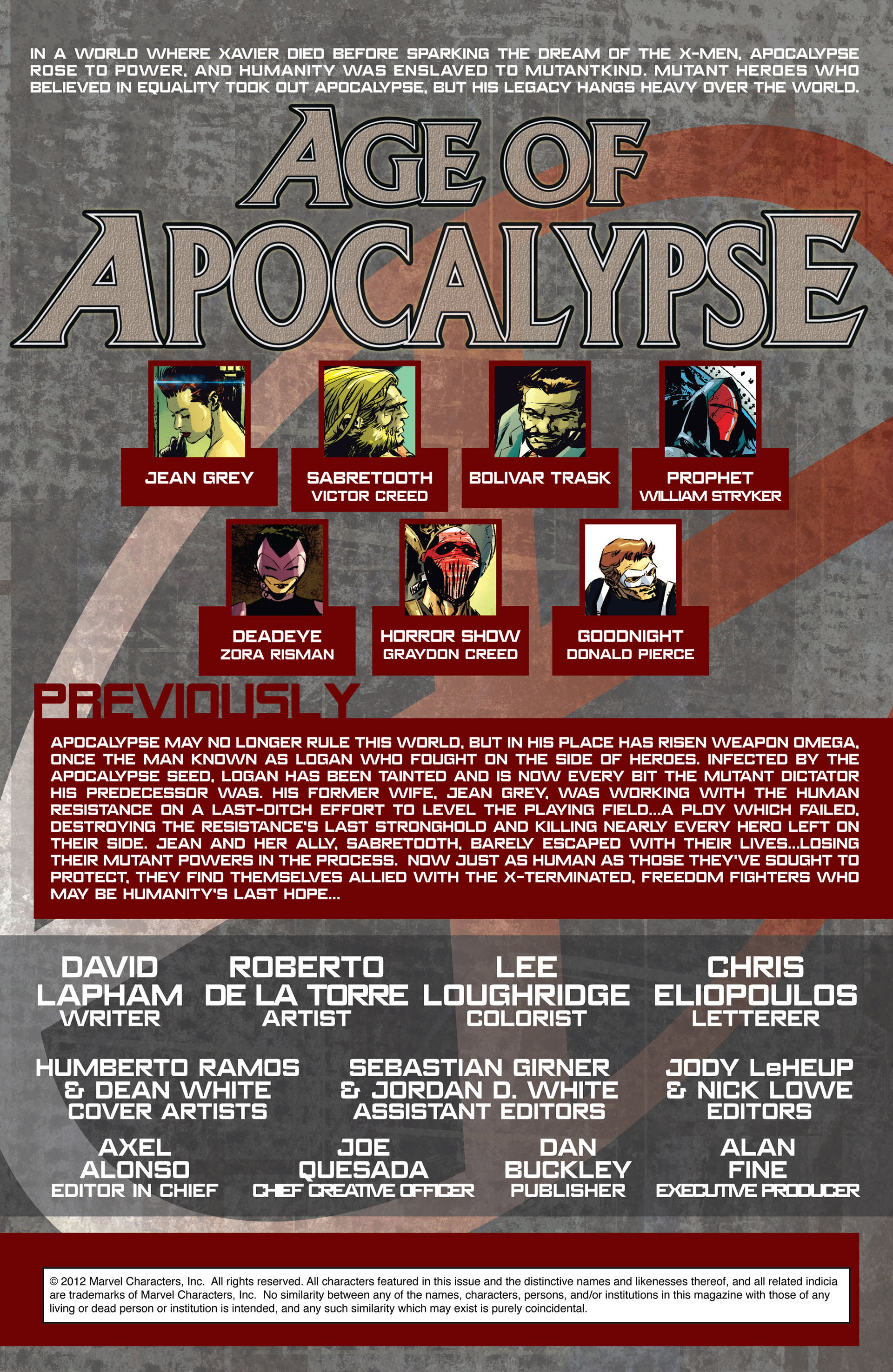 Read online Age of Apocalypse (2012) comic -  Issue #1 - 2