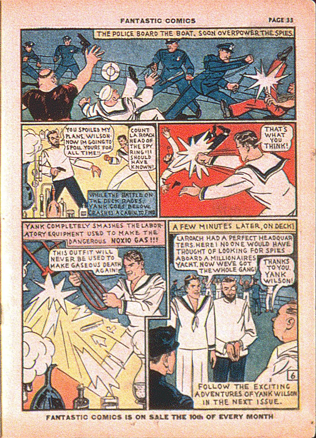 Read online Fantastic Comics comic -  Issue #7 - 35