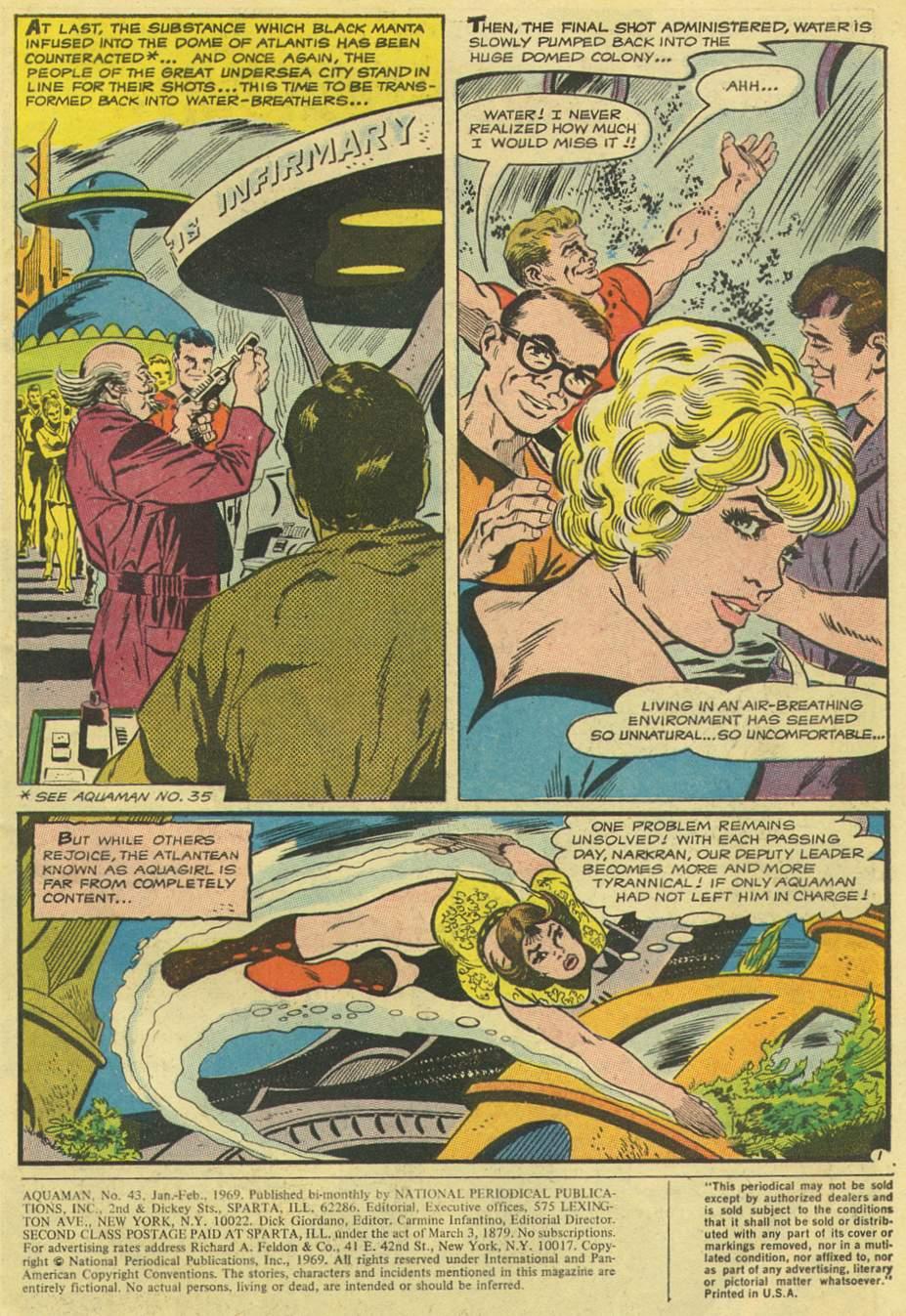 Read online Aquaman (1962) comic -  Issue #43 - 3