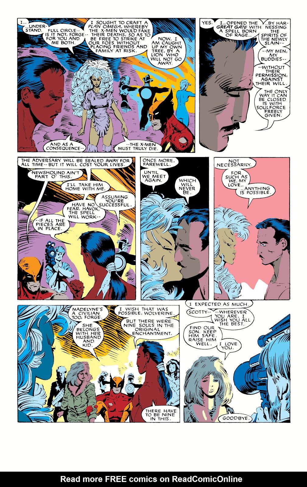 Read online X-Men Milestones: Fall of the Mutants comic -  Issue # TPB (Part 1) - 85