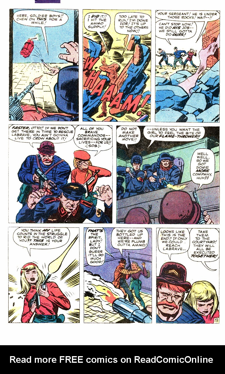 Read online Sgt. Fury comic -  Issue #167 - 31