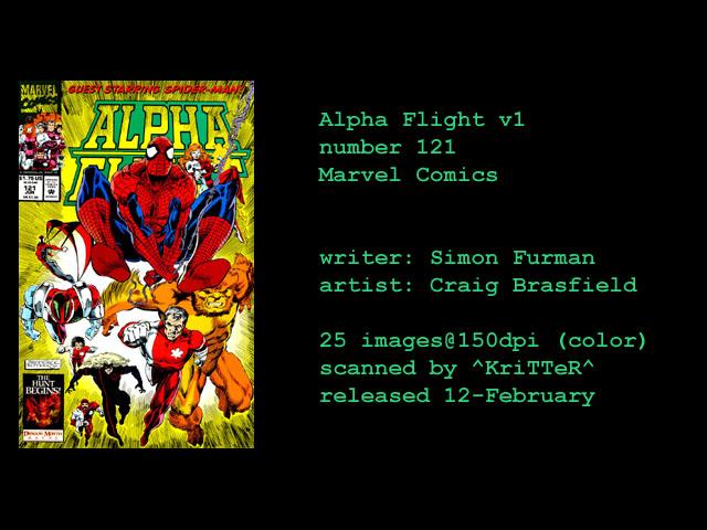 Read online Alpha Flight (1983) comic -  Issue #121 - 1