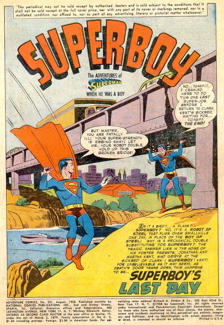 Read online Adventure Comics (1938) comic -  Issue #251 - 3