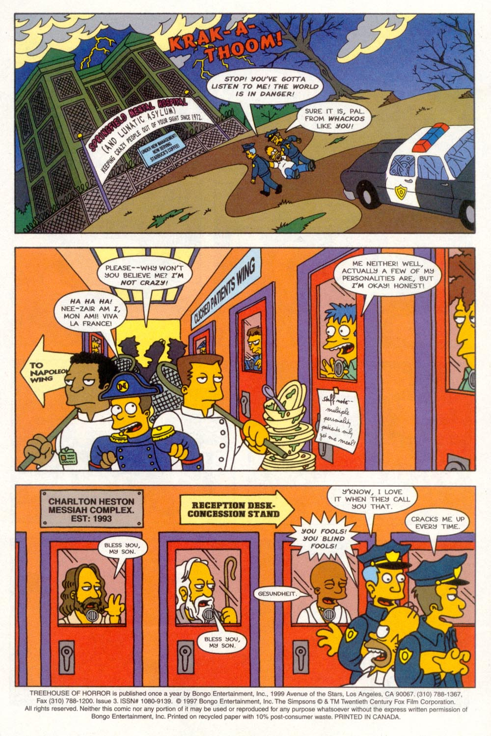 Read online Treehouse of Horror comic -  Issue #3 - 2